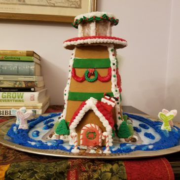 Building A Gingerbread Lighthouse & Village